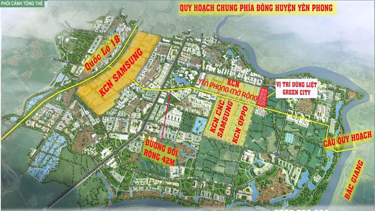 Quy hoạch phía Đông huyện Yên Phong