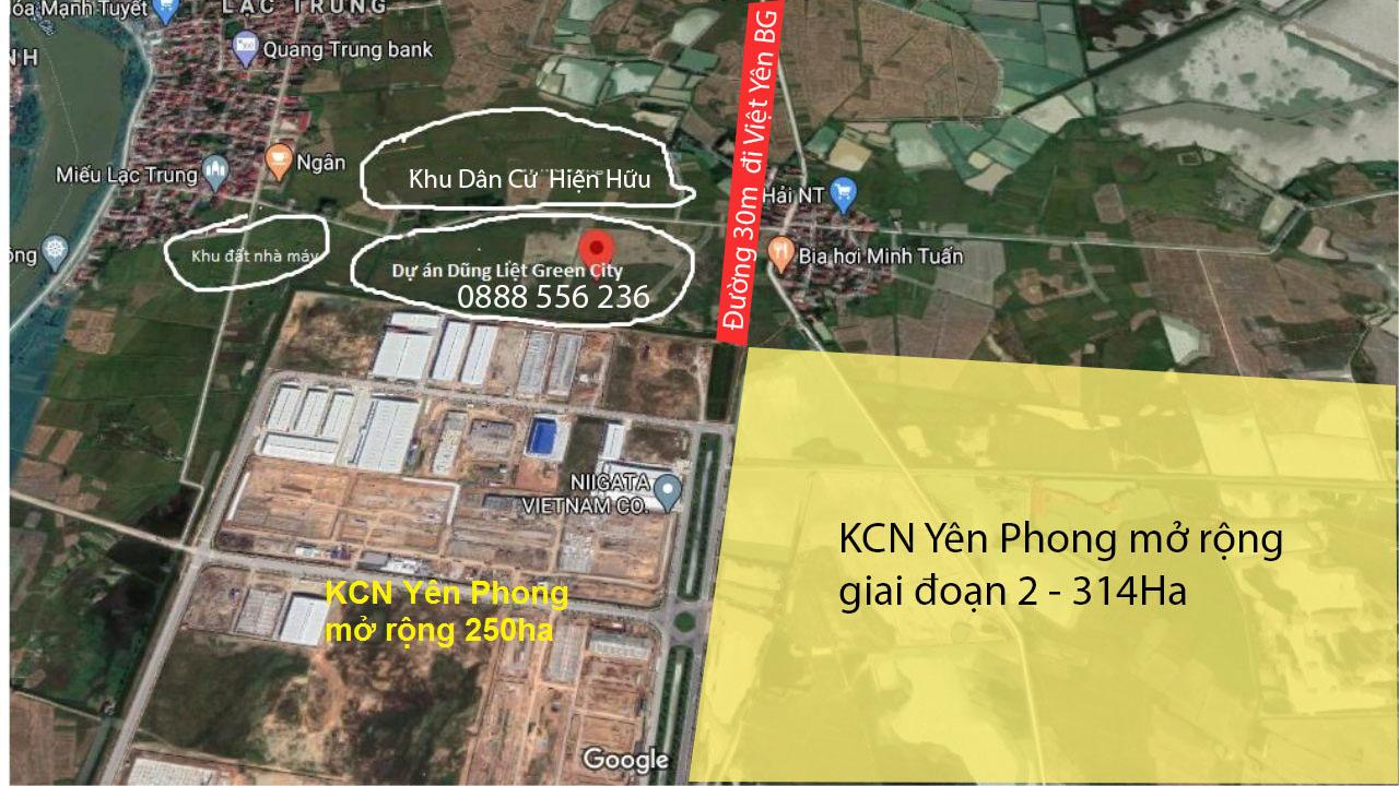 Vị trí Dũng Liệt Green City Yên Phong