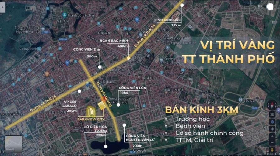 Vị trí Dabaco Huyền Quang - ParkView City Bắc Ninh