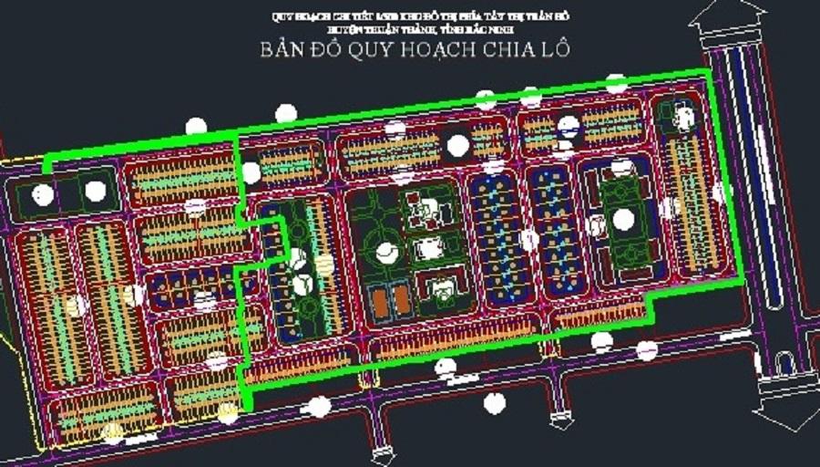 Mặt bằng quy hoạch chia lô Dabaco Thuận Thành